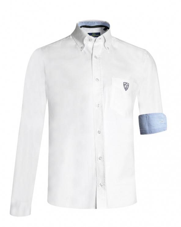Chemise Oxford ASM manches longues blanche homme