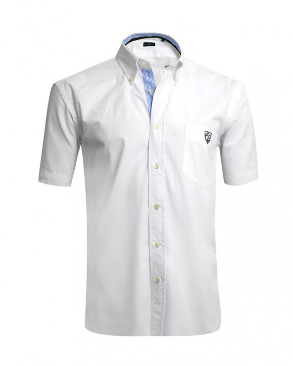 Chemise Classic blanche ASM manches courtes homme
