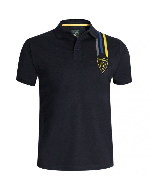 Polo Patch ASM manches courtes homme marine