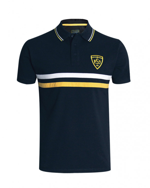 Polo Bill ASM manches courtes marine homme