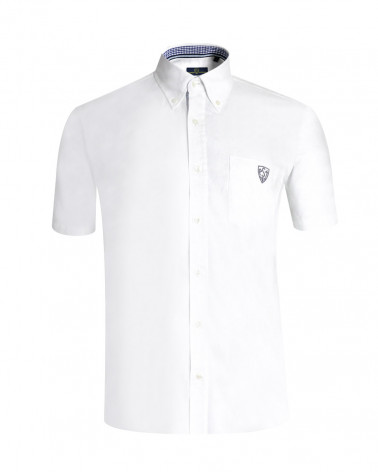 Chemise Oxford ASM manches courtes blanc homme