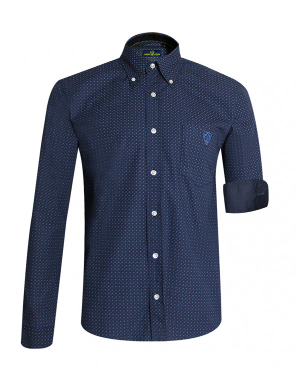 Chemise manches longues Pontaumur ASM rugby bleu marine homme